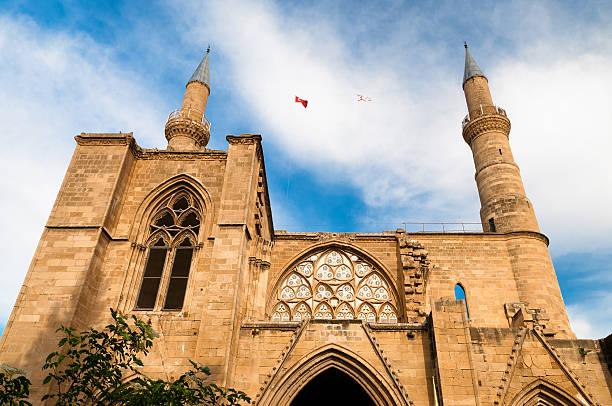 selimiye-moschee. nikosia. zypern - selimiye moschee stock-fotos und bilder