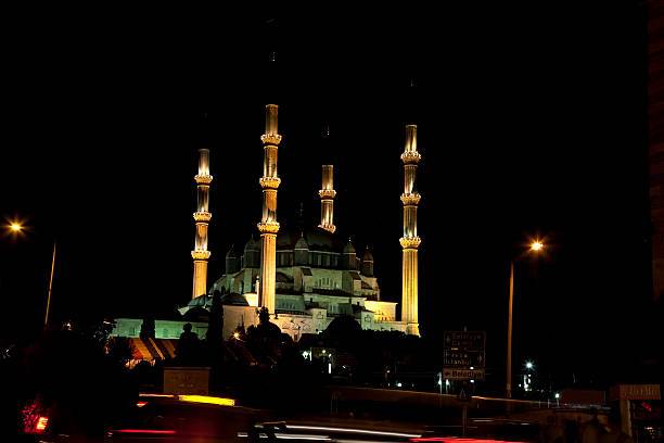 Selimiye Mosque Turkey, Edirne, Selimiye Mosque. The UNESCO World Heritage Site Of The Selimiye Mosque, Built By Mimar Sinan In 1575 selimiye mosque night stock pictures, royalty-free photos & images