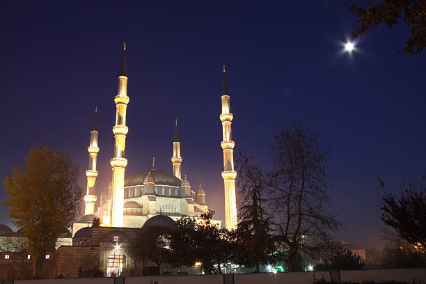 Selimiye Mosque Selimiye Mosque, Edirne, Turkey selimiye mosque night stock pictures, royalty-free photos & images