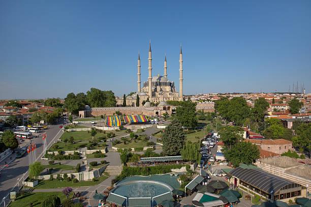 selimiye-moschee - edirne stock-fotos und bilder