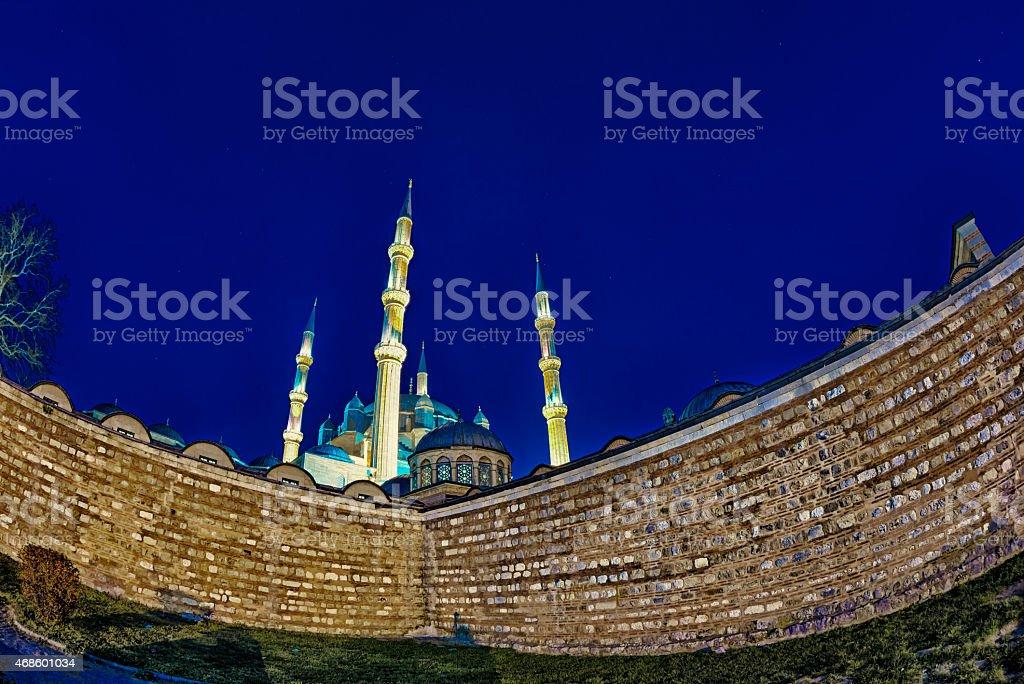 Selimiye Mosque Sunset stock photo