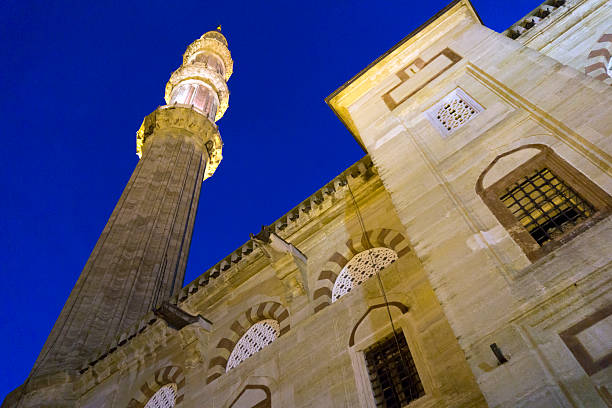 Selimiye Mosque Turkey Low angle view selimiye mosque selimiye mosque night stock pictures, royalty-free photos & images