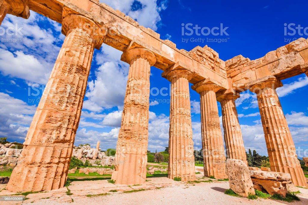 Selinunte - Sicily, Italy royalty-free stock photo