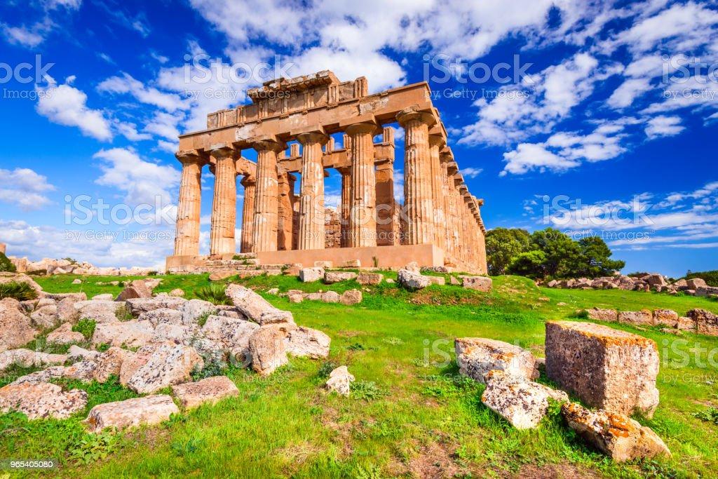 Selinunte, Sicily, Italy royalty-free stock photo