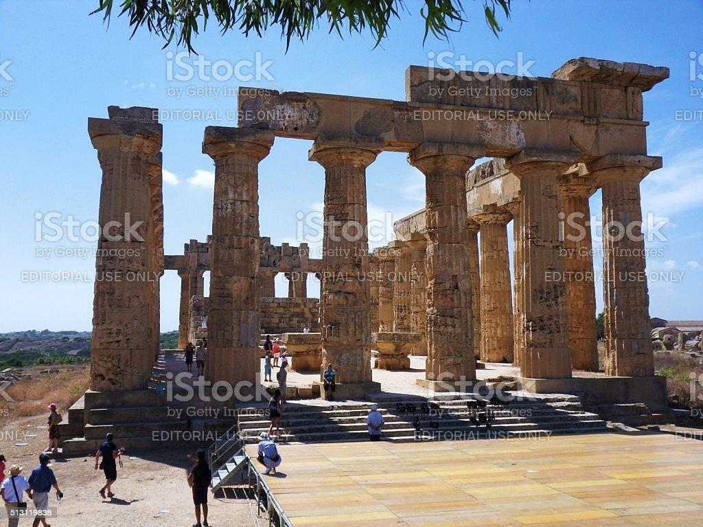 Selinunte - Tempio di Hera stock photo