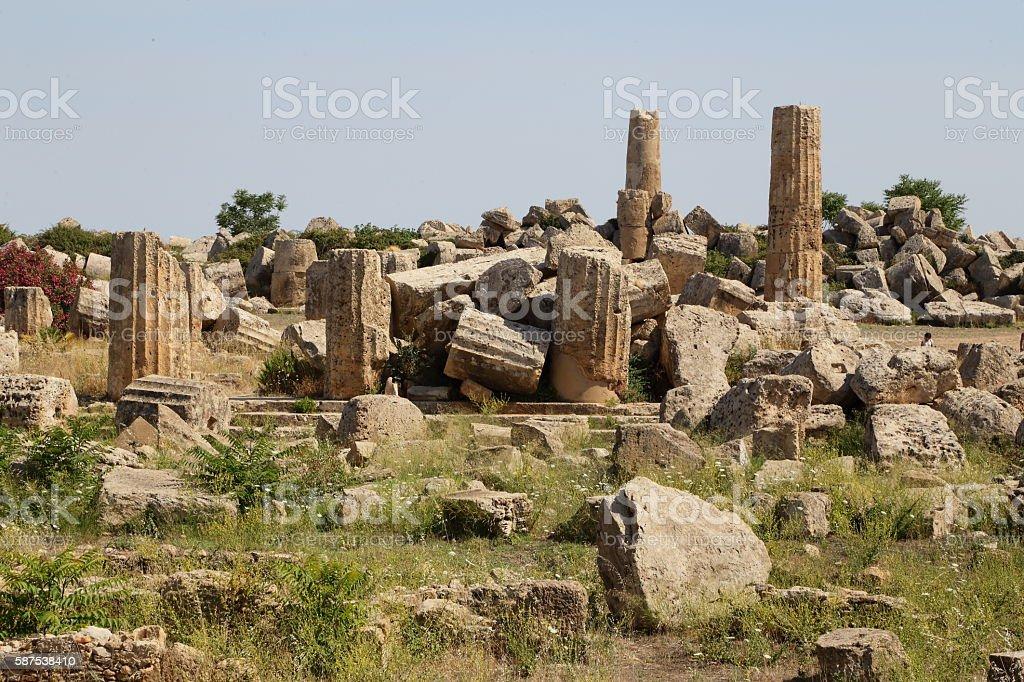 Selinunte (Sicily) Temple stock photo