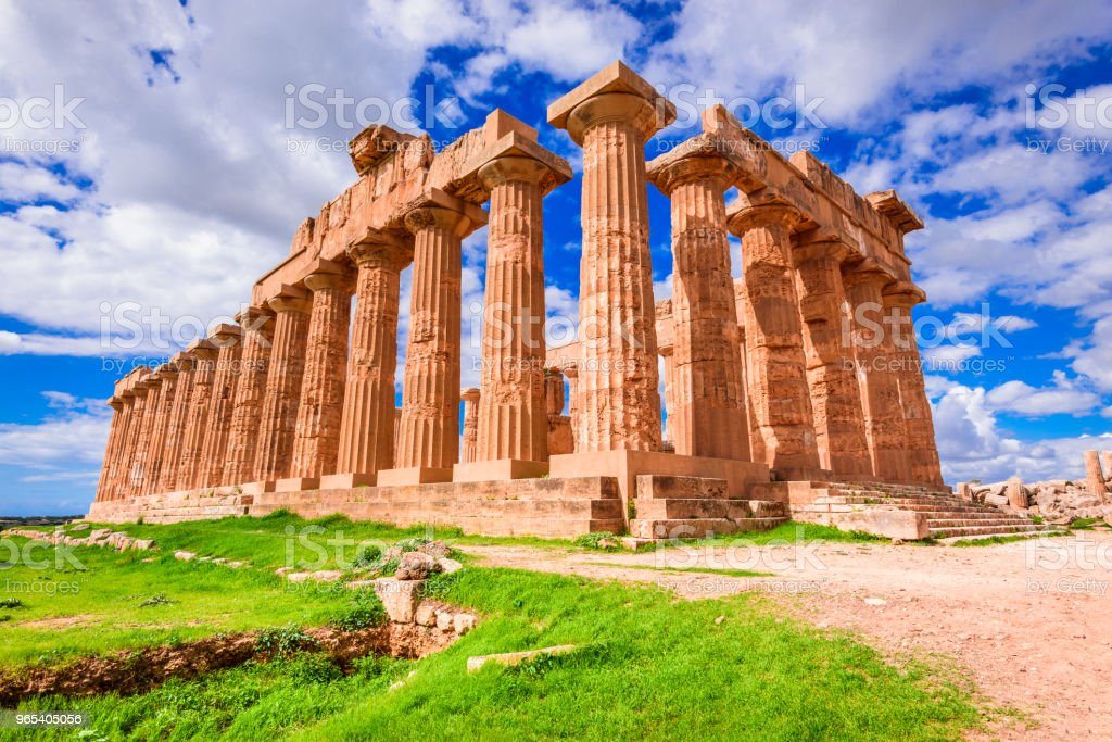 Selinunte temple, Sicily, Italy royalty-free stock photo