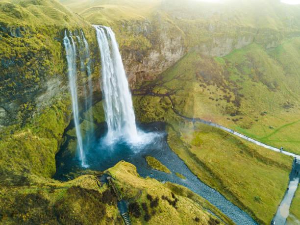Wasserfall Seljalandsfoss, Island – Foto