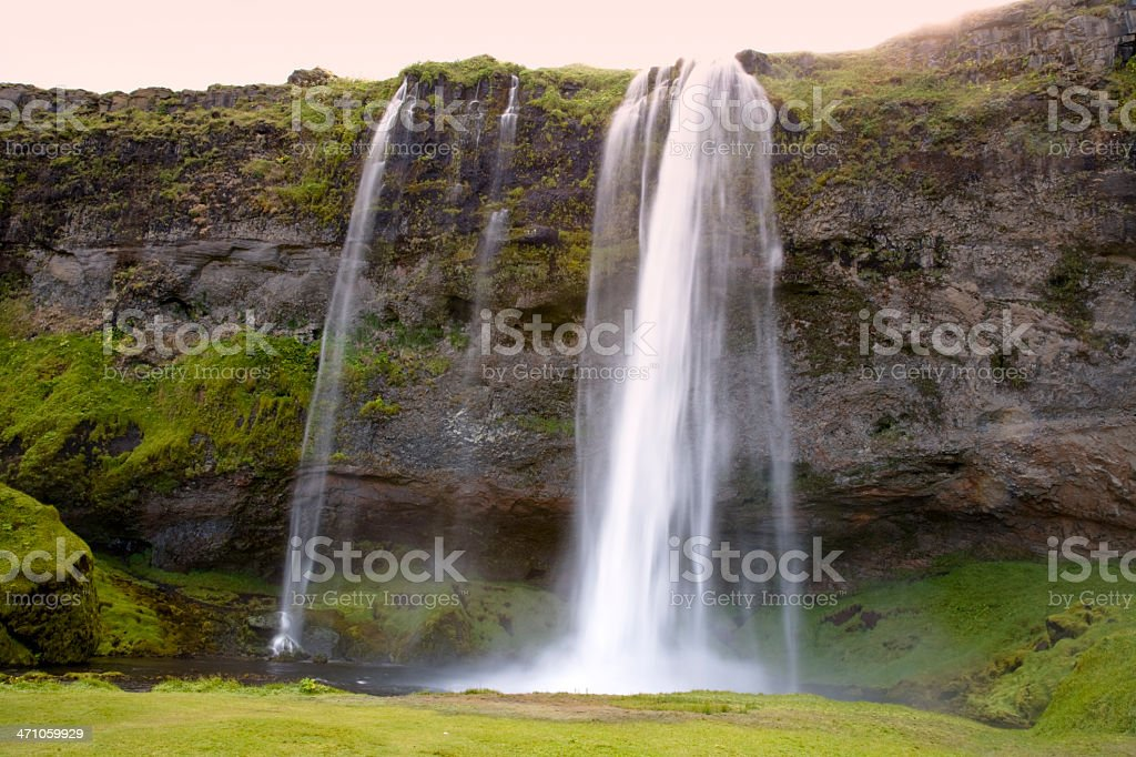 Seljalandsfoss Waterfall Iceland royalty-free stock photo