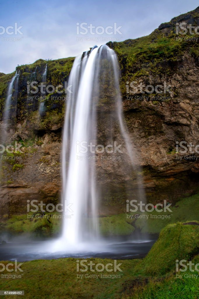 Seljalandsfoss waterfall in Iceland stock photo