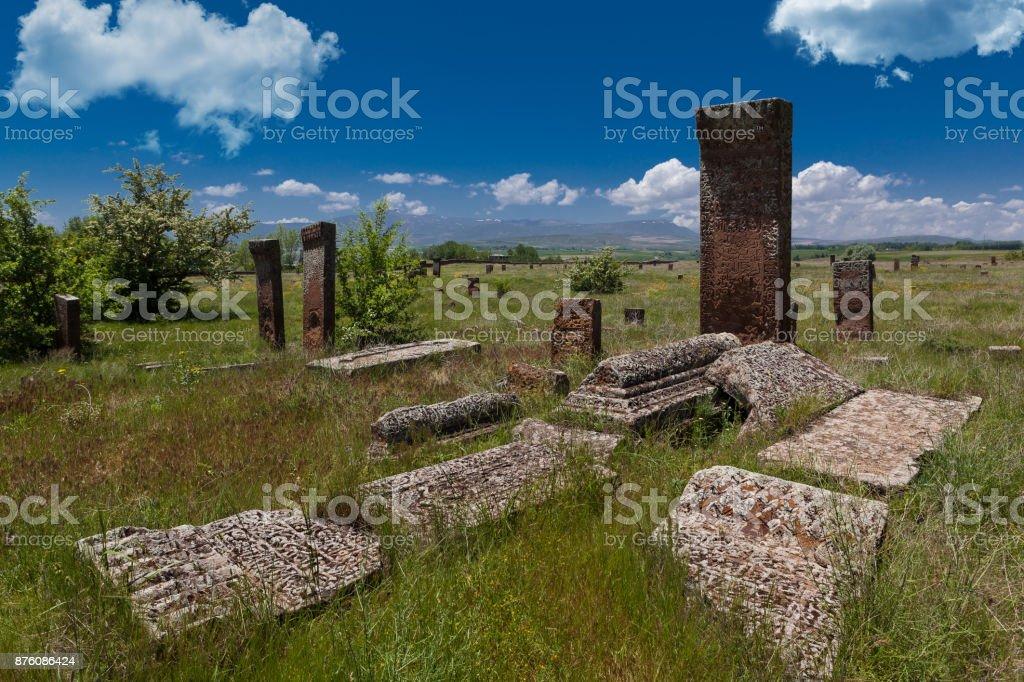 Seljuk graves stock photo