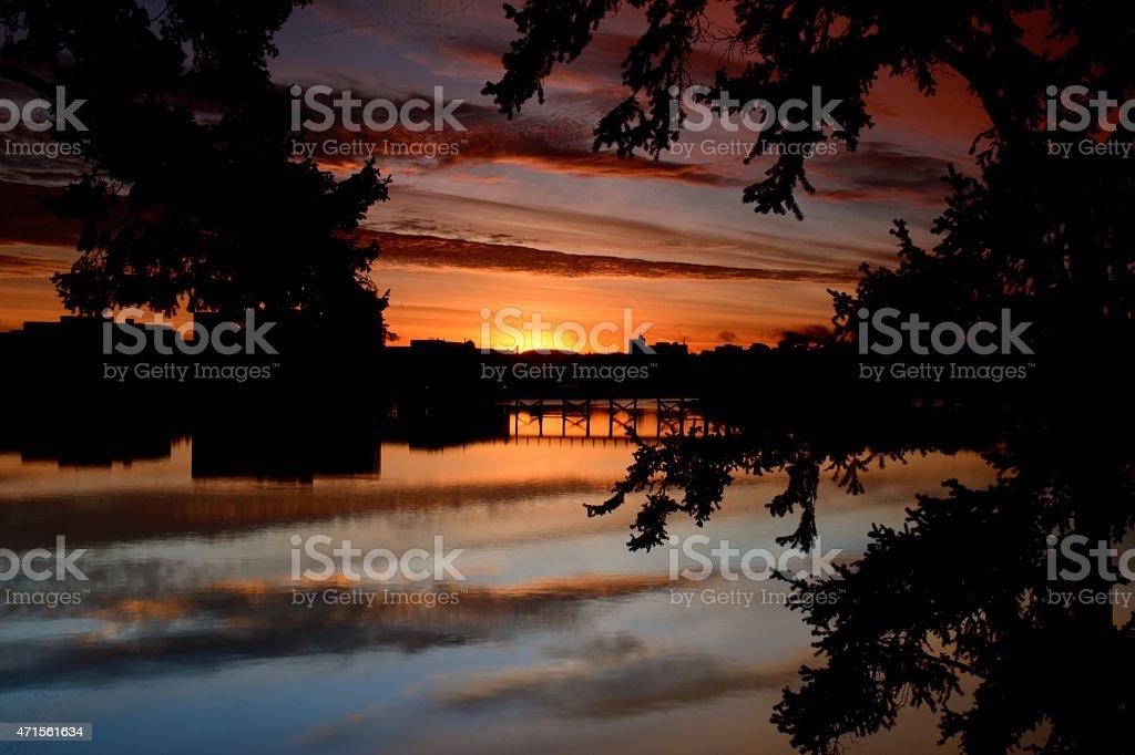 Selkirk Sunrise stock photo