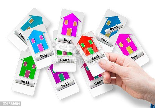 istock Sell a new house concept image 501788694