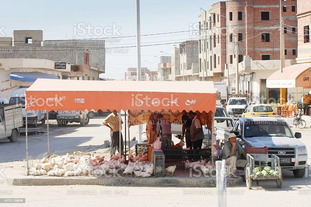 Seller in Kairouan royalty-free stock photo