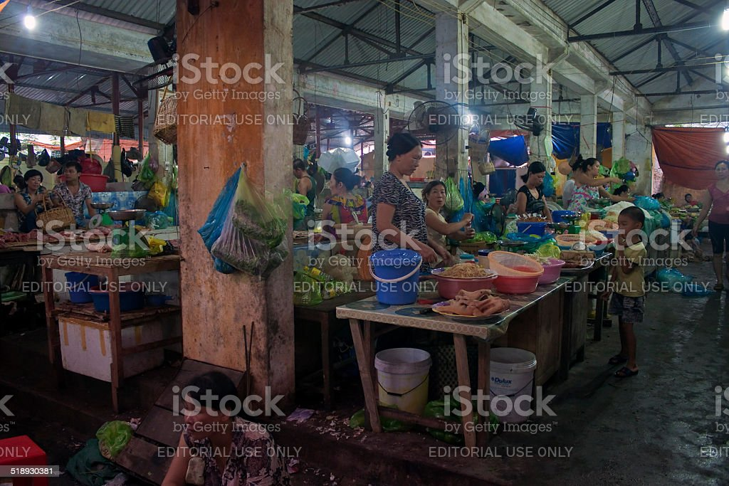 Sellers on a market stock photo