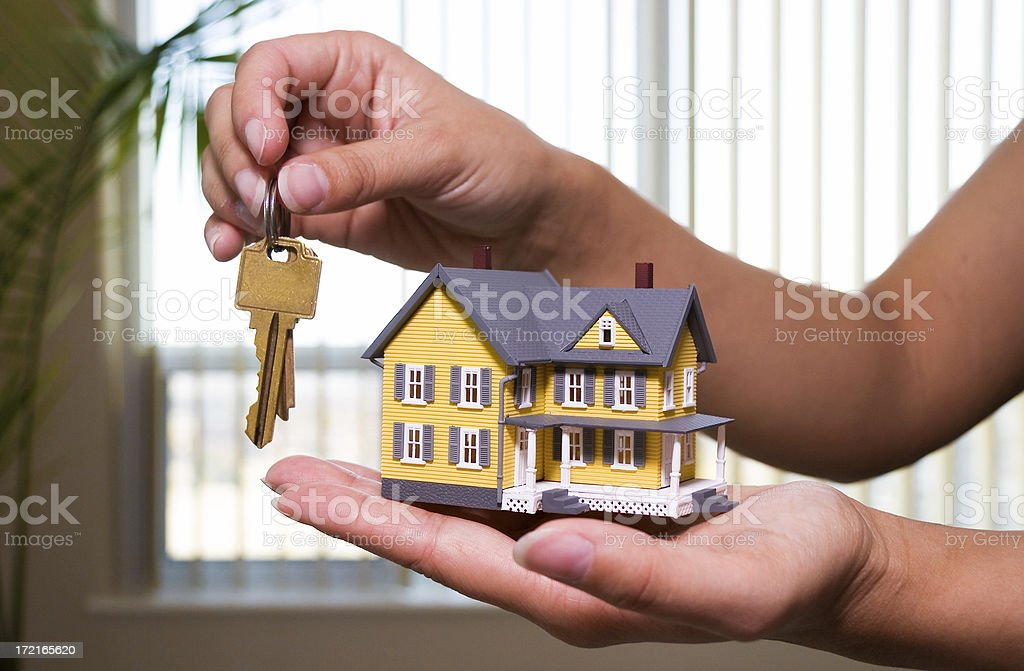 Selling a house royalty-free stock photo