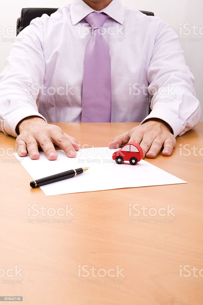 selling a new car royalty-free stock photo
