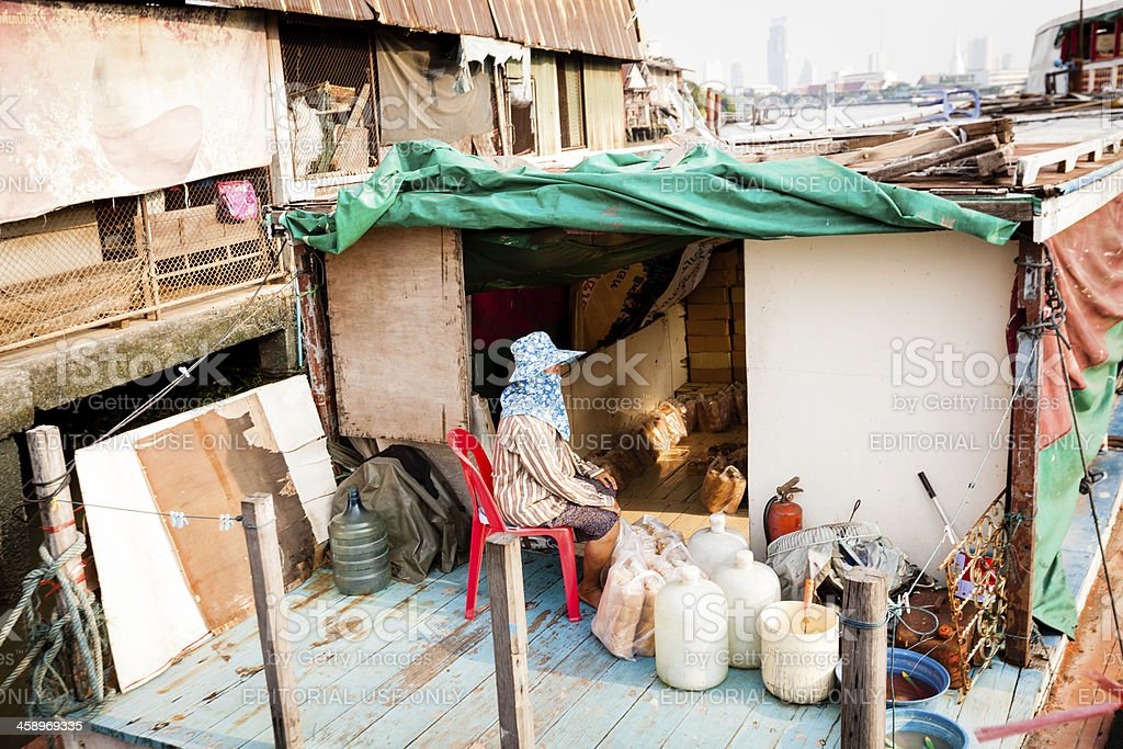 Selling bread in Bangkok royalty-free stock photo