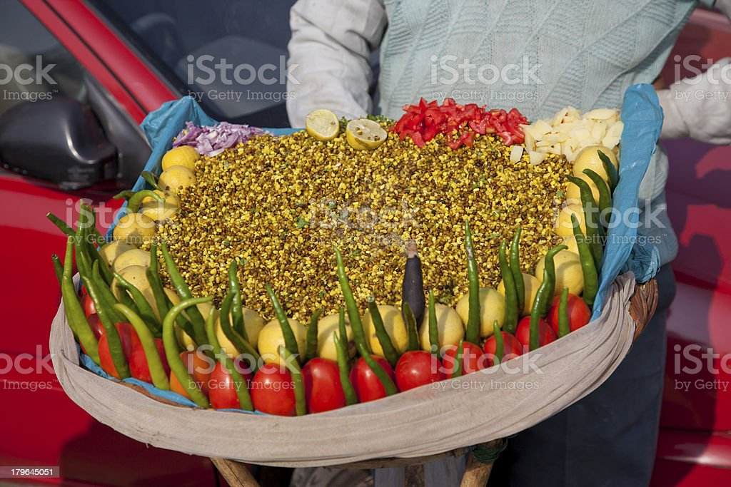 selling fast food at new delhi india royalty-free stock photo