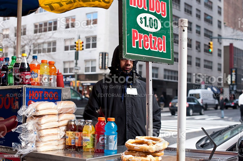 Selling Fast Food royalty-free stock photo