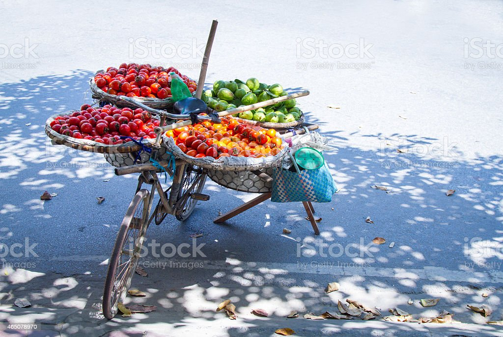 selling fruit stock photo