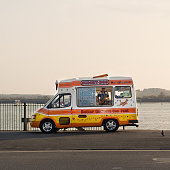 selling ice creams in Southampton harbour