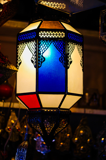 994119256 istock photo Selling lamps on the market in Marrakech Morocco. 1221677459