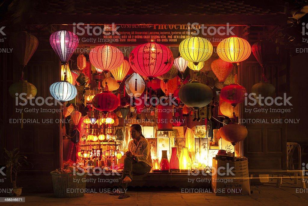 Selling lanterns in Vietnam royalty-free stock photo