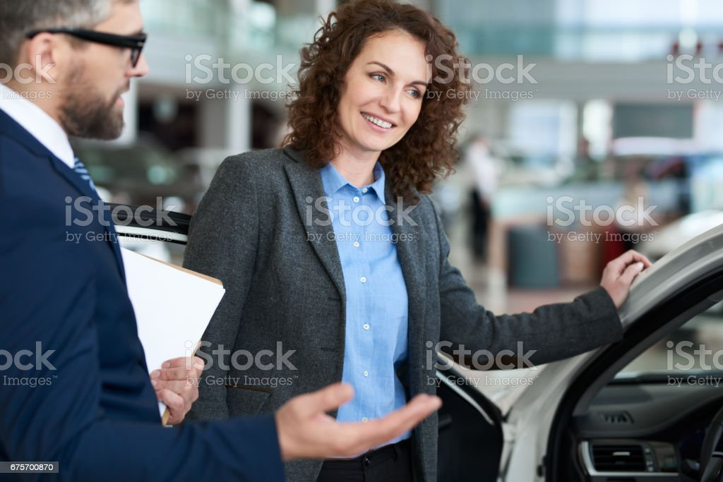 Selling modern car royalty-free stock photo