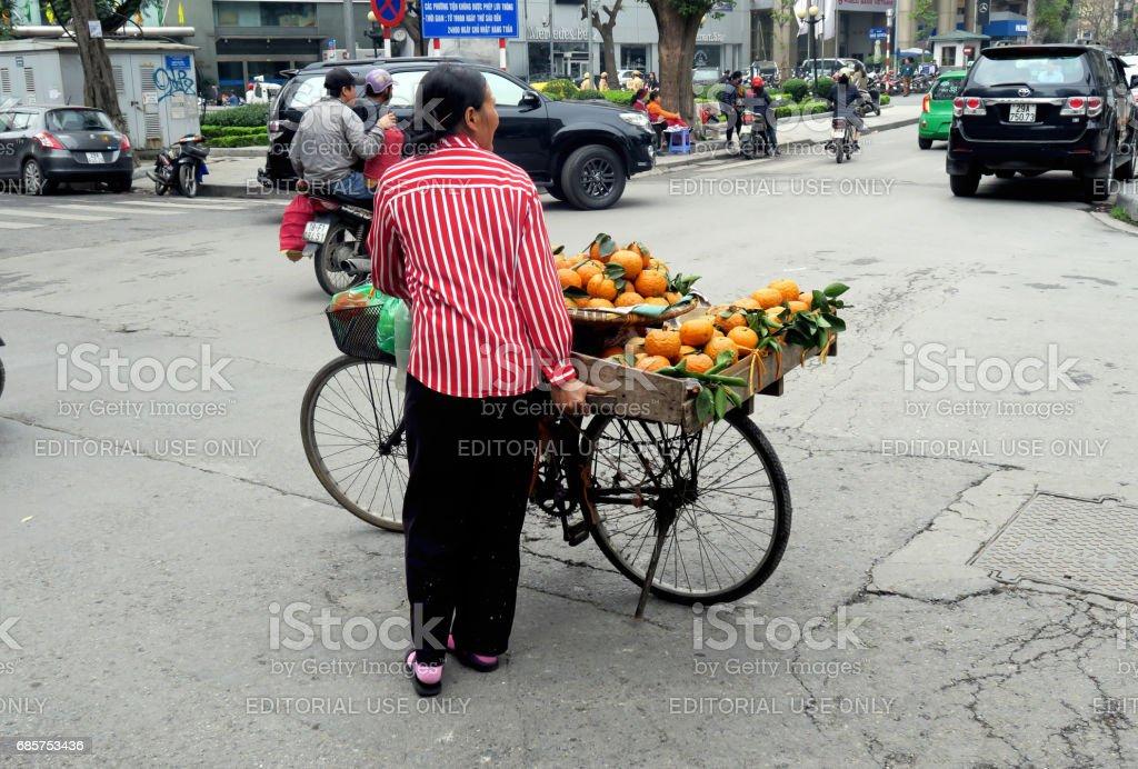 verkoop van sinaasappelen royalty free stockfoto
