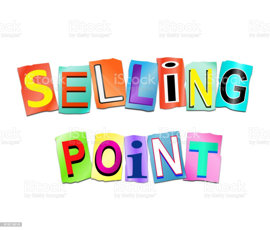 Selling point concept. stock photo