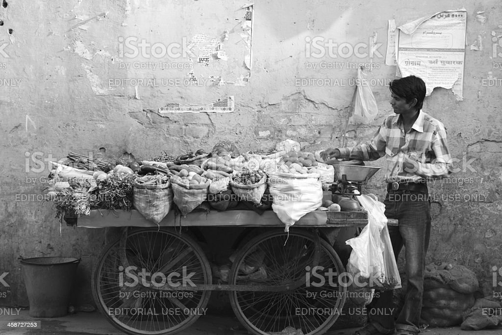 Selling vegetables royalty-free stock photo