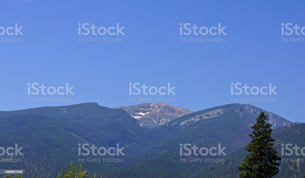 Selway Wilderness Peak stock photo