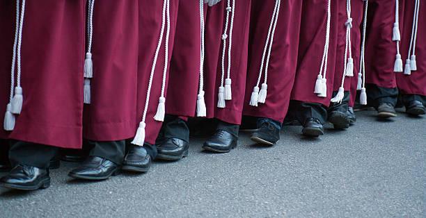semana santa in malaga: procession of rescate brotherhood - easter procession spain bildbanksfoton och bilder