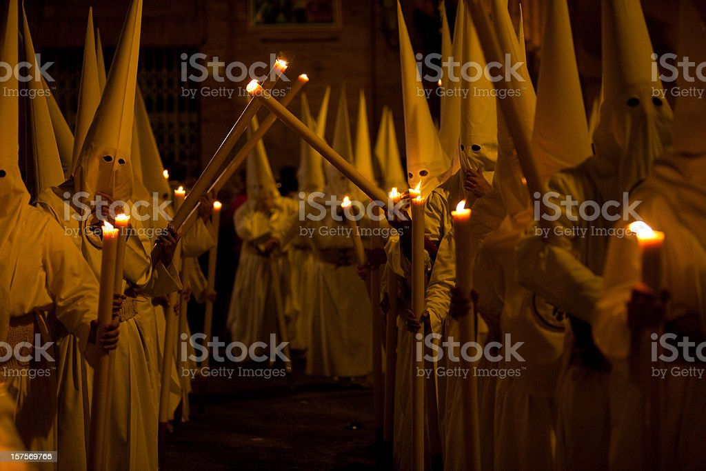 Semana Santa in Sevilla Spain royalty-free stock photo