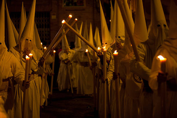 Semana Santa in Sevilla Spain stock photo
