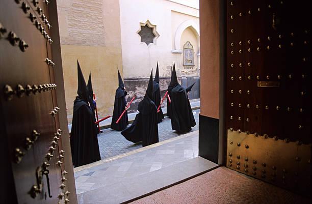 semana santa in seville - easter procession spain bildbanksfoton och bilder
