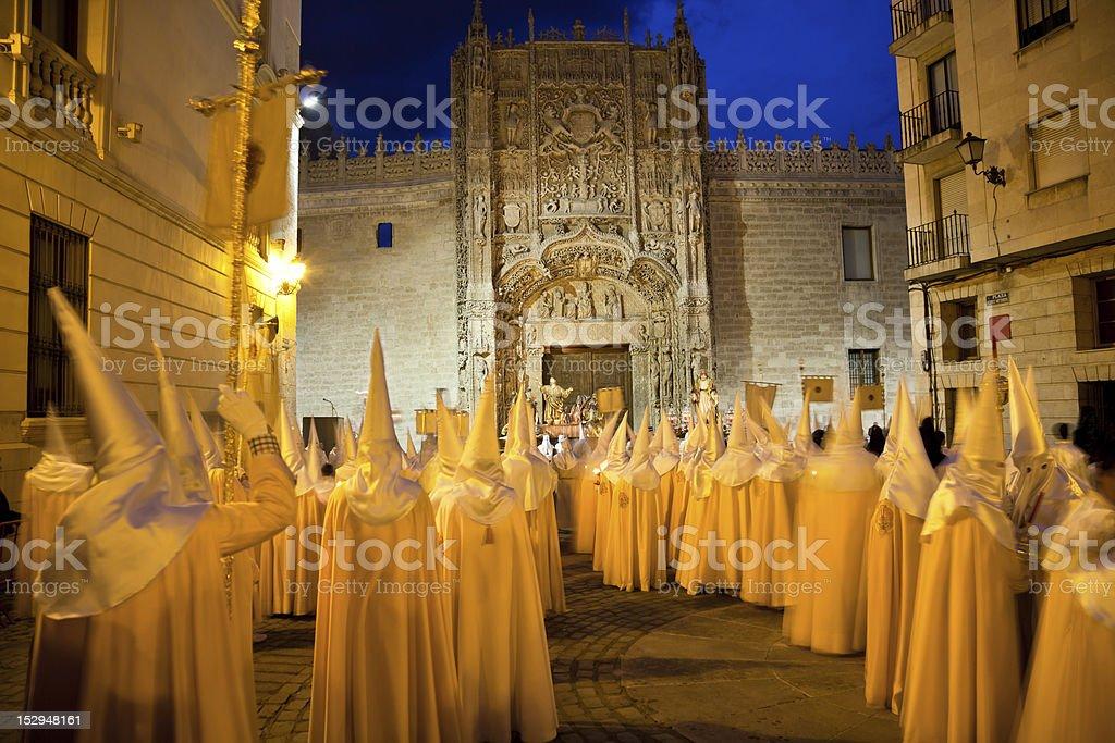 Semana Santa in Valladolid, Spain stock photo