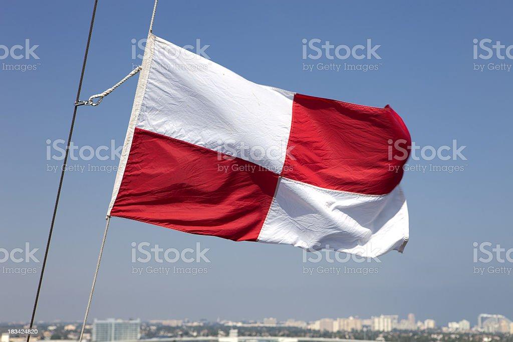 Semaphore Flag stock photo