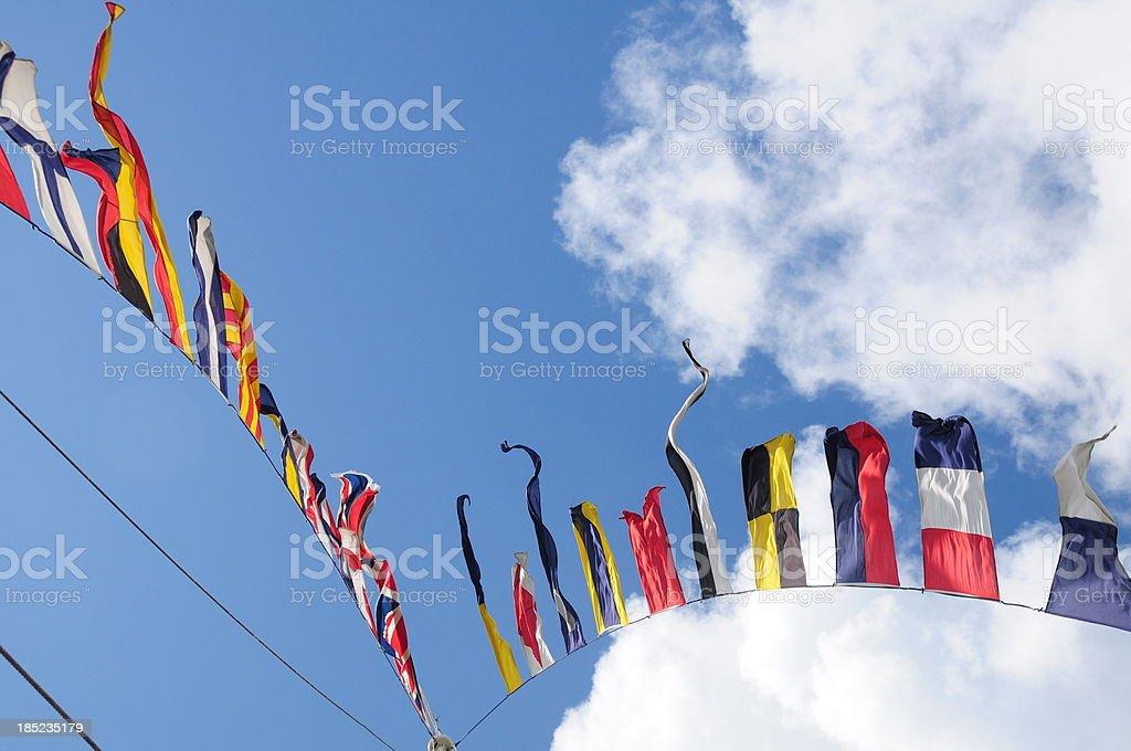 Semaphore flags, Jersey. stock photo