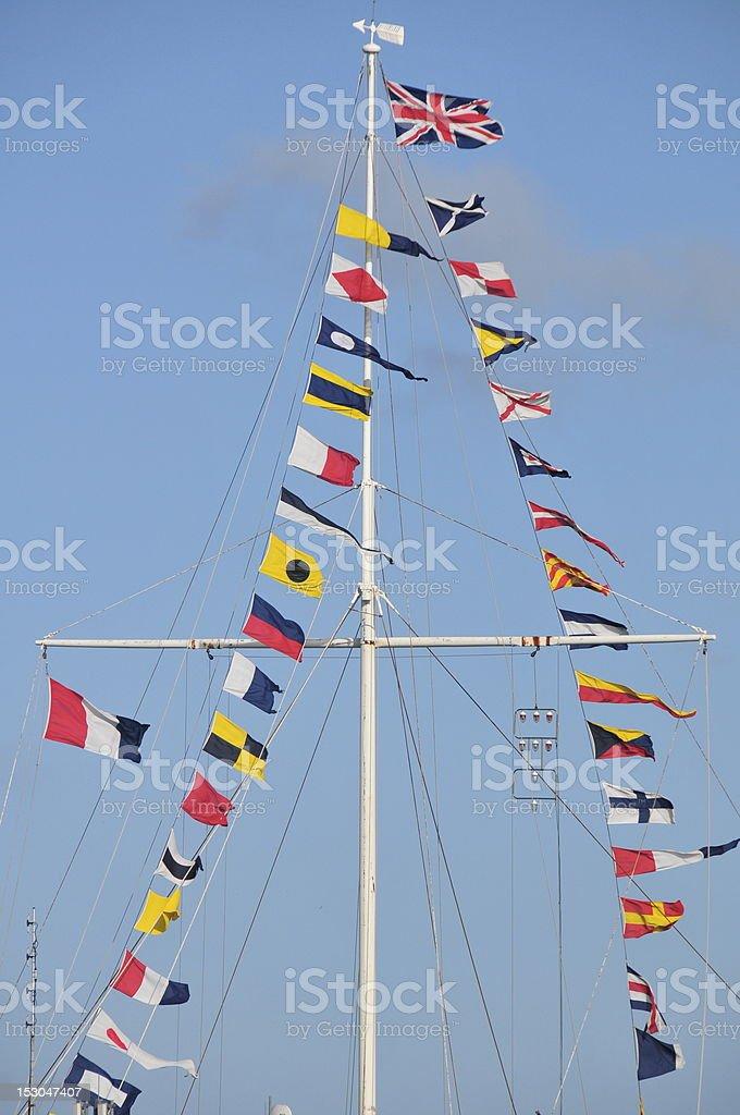 Semaphore flags,Jersey. stock photo