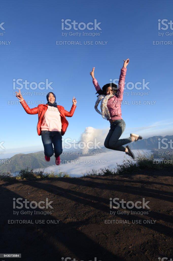 Semeru mountain Indonesia stock photo