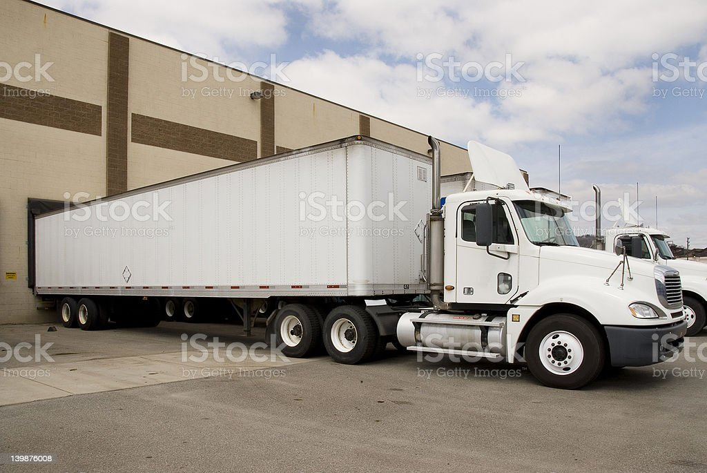 Semi 4 stock photo