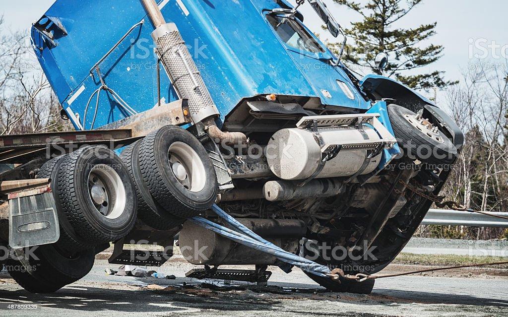 Semi accidente - foto de stock
