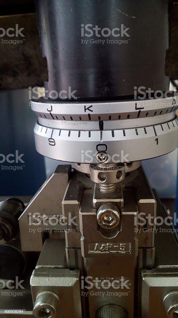 semi auto crimping wire machine stock photo