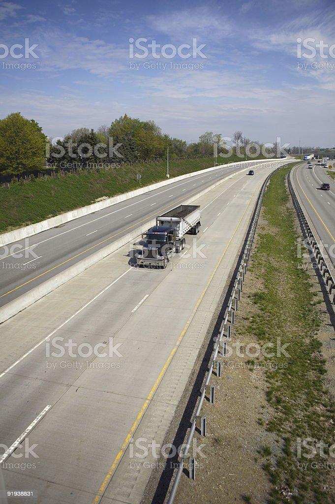 Semi Dump Truck (Wide) royalty-free stock photo