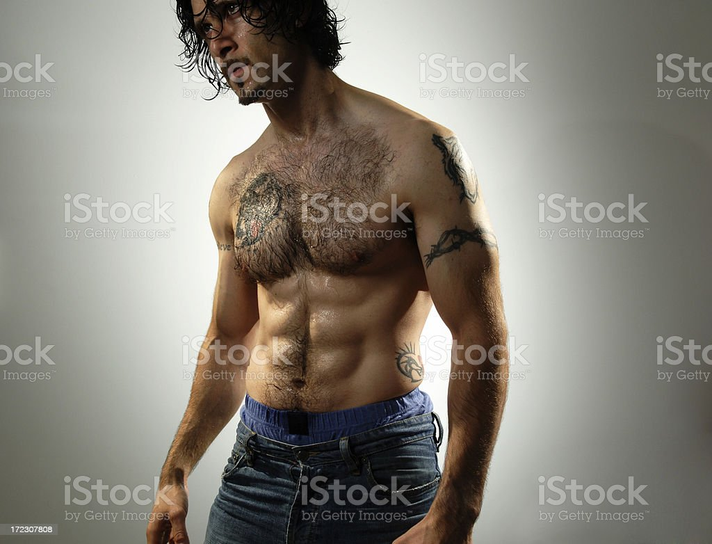 semi nude man royalty-free stock photo