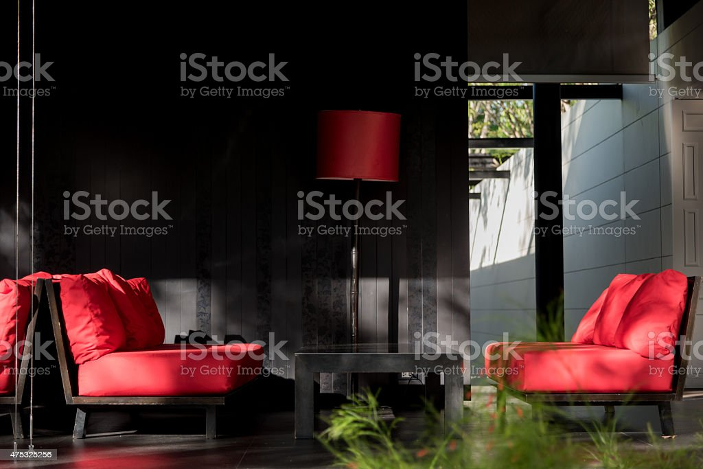 semi outdoor room stock photo