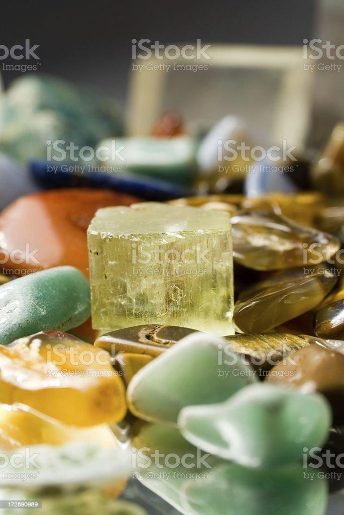 Semi precious gem stones royalty-free stock photo