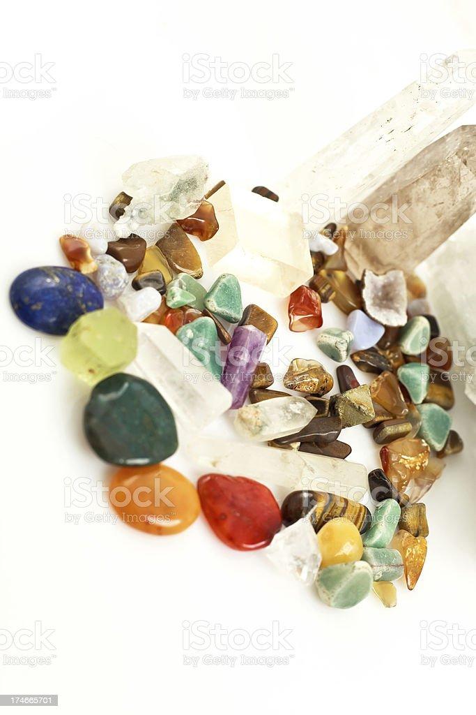 Semi precious gem stones (xxxl) royalty-free stock photo